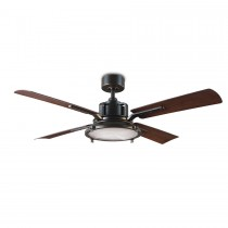 "56"" Nautilus Ceiling Fan - FR-W1818-56L-OB/DW by Modern Forms - Oil Rubbed Bronze w/ Dark Walnut Blades"