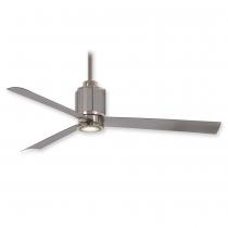 """54"""" Minka Aire Gear Ceiling Fan F736L-PN/BS - Polished Nickel & Brushed Steel"""