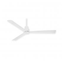 """44"""" Minka Aire Simple Ceiling Fan - F786-WHF - Flat White"""