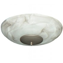 FL171 Mocha Fan Light (shown with Antique Bronze bottom)