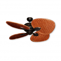 "48"" Palm Breeze II Ceiling Fan - Oil Rubbed Bronze - Woven Bamboo Cherry"