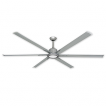 Modern ceiling fans for todays contemporary home dcor troposair titan ii 84 ceiling fan brushed nickel shown with optional led light aloadofball Images