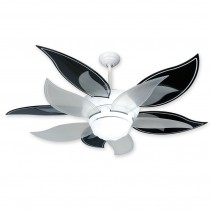 Craftmade Flower Ceiling Fan w/ Black & Translucent Blades - BL52W-BBL52BLK