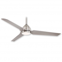"54"" Java LED Ceiling Fan - F753L-BNW - Brushed Nickel Wet"
