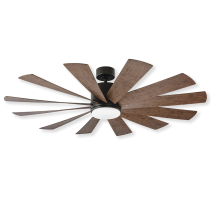 "60"" Modern Forms Windflower Windmill Ceiling Fan - Oil Rubbed Bronze w/ Dark Walnut"