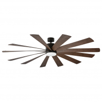 "80"" Modern Forms Windflower Ceiling Fan - Oil Rubbed Bronze w/ Dark Walnut Blades"