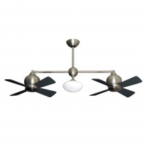 Gulf Coast Metropolitan Ceiling Fan - Satin Steel