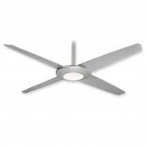Minka Aire Pancake XL - LED Ceiling Fan - F739L-SL - Silver Finish
