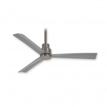 "44"" Minka Aire Simple Ceiling Fan - F786-BNW - Brushed Nickel Wet"