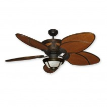 "52"" Gulf-Coast Moroccan Ceiling Fan w/ Light"