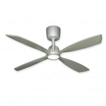 "56"" TroposAir Ninja Brushed Nickel Ceiling Fan - (light on)"
