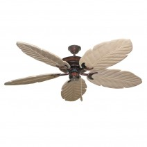Raindance 125 Series Ceiling Fan - Wine - Whitewashed Blades