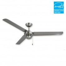 "56"" Tornado Ceiling Fan - Stainless Steel Outdoor Fan by TroposAir"