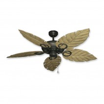 Trinidad Ceiling Fan Oil Rubbed Bronze - Driftwood Leaf Blades