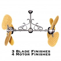 Double Motor Ceiling Fan Tropical Blades