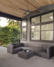 Osprey Ceiling Fan by Modern Forms on Covered Porch