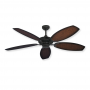 "High Output 52"" DC Outdoor Ceiling Fan - Coastal Classic by Gulf Coast Fans - Oil Rubbed Bronze"