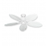 """42"""" Dixie Belle 150 - Pure White Carved Leaf Blades"""