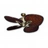 "48"" Palm Breeze II Ceiling Fan - Antique Brass - Woven Bamboo Dark"