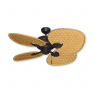 """48"""" Palm Breeze II Ceiling Fan - Oil Rubbed Bronze - Woven Bamboo Natural"""