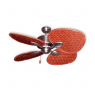 "48"" Palm Breeze II Ceiling Fan - Satin Steel - Woven Bamboo Cherry"