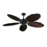 Coastal Air Ceiling Fan Oil Rubbed Bronze - 125 Arbor Blades Dark Walnut