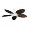 Coastal Air Ceiling Fan Pure White - 125 Arbor Blades Dark Walnut