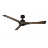 """60"""" Woody Ceiling Fan / Modern Forms / Bronze w/ Walnut Blades shown with light cover"""