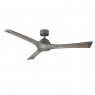 """60"""" Woody Ceiling Fan / Modern Forms / Graphite w/ Weathered Gray Blades shown with light cover"""