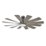 """60"""" Modern Forms Windflower Windmill Ceiling Fan - Graphite w/ Weathered Gray Blades"""