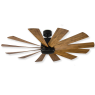 "60"" Modern Forms Windflower - FR-W1815-60L-MB/DK (shown w/ light cover)"