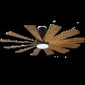 """60"""" Modern Forms Windflower Windmill Ceiling Fan - Matte Black w/ Distressed Koa"""