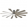 """80"""" Modern Forms Windflower Ceiling Fan - Graphite / Weathered Gray"""