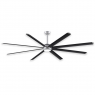 "96"" Fanimation Stellar Ceiling Fan - MAD7998SLW - Black Blades w/ Light"