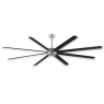 "96"" Fanimation Stellar Ceiling Fan - MAD7998SLW - Black Blades"