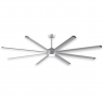 "96"" Fanimation Stellar Ceiling Fan - MAD7998SLW - Silver Blades w/ Light"