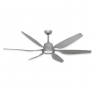 "TroposAir Titan 66"" Ceiling Fan - Brushed Nickel - Shown w/ optional LED Light (sold separately)"