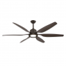 "66"" Titan II Ceiling Fan - Oil Rubbed Bronze - Shown w/ LED Light (sold separately)"