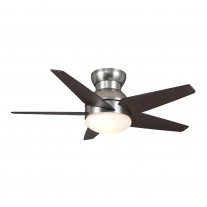 "44"" Isotope Ceiling Fan - Flush Mount Casablanca Fan - 59019 Brushed Nickel"