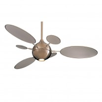 """54"""" Cirque Ceiling Fan by Minka Aire Fans - F596-BN Brushed Nickel Modern Contemporary"""