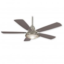 """56"""" Groton Ceiling Fan - Minka Aire F681-BNW Wet Rated - Brushed Nickel Wet Finish"""