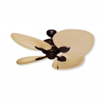 """48"""" Palm Breeze II Ceiling Fan - Oil Rubbed Bronze - Natural Palm Blades"""