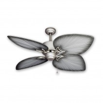 brushed nickel tropical ceiling fans - outdoor palm ceiling fan