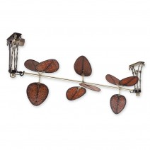Fanimation Palmetto FP601AB Antique Brass (shown with 3 blade sets in Woven Bamboo)