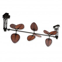 Fanimation Palmetto FP601BL Black (shown with 3 blade sets in Woven Bamboo)