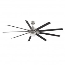 Fanimation Odyn Ceiling Fan FPD8149BNWBL - Brushed Nickel w/ Black Blades