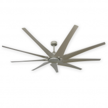 "82"" Liberator Ceiling Fan by TroposAir - Our Most Powerful Model - Brushed Nickel"
