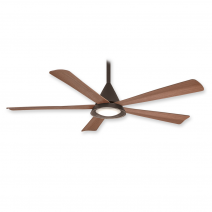 """54"""" Cone Ceiling Fan by Minka Aire - F541L-ORB - Oil Rubbed Bronze w/ LED Light"""