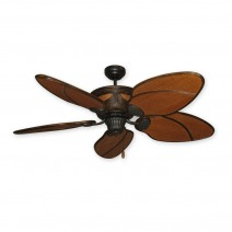 "52"" Moroccan Ceiling Fan by Gulf-Coast - Rattan Motor Housing & Blades"