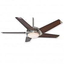 Casablanca 59164 Stealth DC Ceiling Fan - Brushed Nickel w/ Walnut Blades